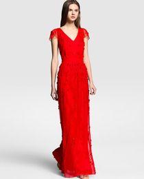 Vestido de mujer Tintoretto rojo de tul