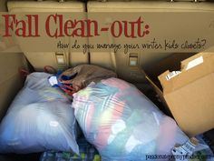 Help! Cleaning out your kids' closets for fall and winter. How do you manage it?