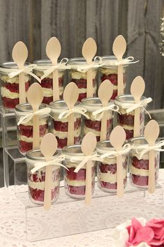 Cakes in jars by @sweet bloom cakes