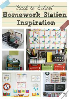 Back to School Homework Station Inspiration at createcraftlove.com!