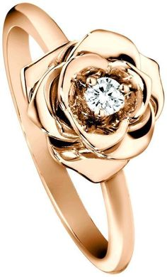 This rose gold diamond speaks to any rose lover's heart.