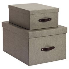 Grey Bigso Marten Storage Boxes
