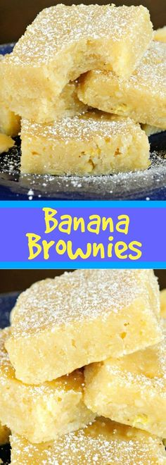 You will go bananas over these Fudgy White Chocolate Banana Brownies! The chewy, fudgy, dense texture of a brownie with dreamy banana flavor! Easy Desserts, Delicious Desserts, Yummy Food, Jello Desserts, Unique Desserts, Health Desserts, Chocolate Banana Brownies, Banana Blondies, Banana Bread Brownies