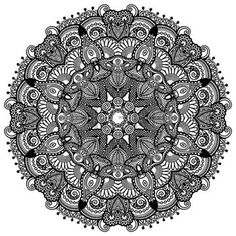 Illustration of Circle lace ornament, round ornamental geometric doily pattern, black and white collection vector art, clipart and stock vectors. Doily Patterns, Lace Design, Black Tattoos, Clipart, Doilies, Vector Art, Illustration, Coloring Books, Black And White