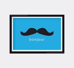 Modern Moustache Wall Art by moderngenes on Etsy, $15.00