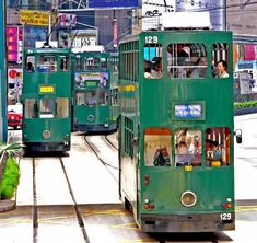Love these trams! Took them from one end of Hong Kong island to the other - Shau Kei Wan. Sometimes with a stop over in Happy Valley to eat at one of the many good restaurants!