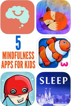 These 5 mindfulness apps include a range of exercises that help children develop self awareness and concentration. Mindfulness can help children to decrease anxiety, to calm down when upset and to learn to handle emotions less reactively. Great for home and school.