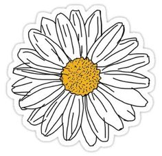 Stickers Discover Daisy Sticker by 201195 a pretty daisy just like you! xo Also buy this artwork on stickers apparel phone cases and more. Stickers Cool, Red Bubble Stickers, Tumblr Stickers, Phone Stickers, Printable Stickers, Planner Stickers, Macbook Stickers, Wallpaper Tumblr Lockscreen, Mobile Wallpaper