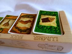 Settlers of Catan Solid Maple Card Holder G119 by PaulSzewc, $30.00