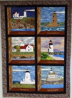 New England Lighthouses . . . An idea for displaying your lighthouse quilt blocks