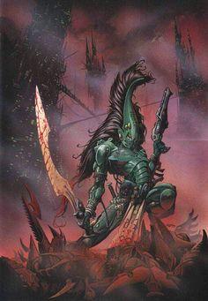 Eldar Striking Scorpion Aspect warrior