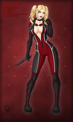 Shadowrun : Juliette by Nemhainn on DeviantArt Harley Quinn Drawing, Harley Quinn Comic, Dc Comics Girls, Dc Comics Art, Superhero Characters, Dc Comics Characters, Harely Quinn, Lady Deadpool, Anime Girl Hot
