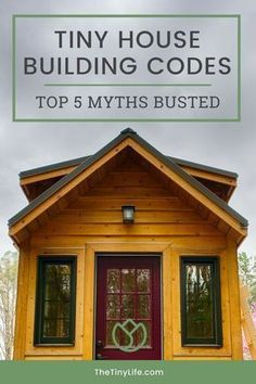 Learn about tiny house building code misconceptions, and what the real answers are to your building code questions in this Guide to Building Codes and Zoning for Tiny Houses. This guide will help you understand how to work within the system to gain legal Tiny House Builders, Building A Tiny House, Tiny House Cabin, Building A Shed, Tiny House Living, Tiny House Plans, Tiny House Design, Tiny House On Wheels, Rv Living