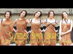 Perfect for Summer Bikini Wraps- 5 Different Ways To Wrap Your Scarf