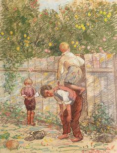 ".""La furat de mere"" de Octav Băncilă"