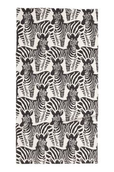 Patterned cotton rug - White/Zebra - Home All