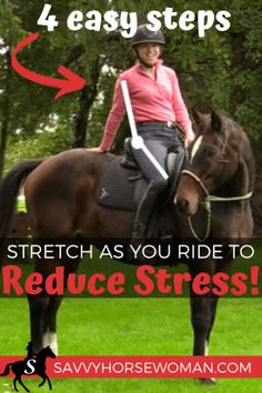 Stretch As You Ride to Reduce Stress - Savvy Horsewoman Equestrian Boots, Equestrian Outfits, Equestrian Style, Equestrian Fashion, Riding Hats, Horse Riding, Riding Gear, Ways To Reduce Stress, English Riding