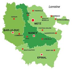 carte de la Lorraine Maps of France Pinterest Lorraine and France
