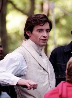 Hugh Jackman from that cute kate and Leopold movie I think