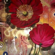 """Red Poppies - Finding Beauty in Chaos Series Poster 16.8"""" x 33.1"""" for $44.03"""