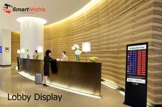 lobby display will completely optimize your first impression as they arrive in beautiful screen layouts. For more info visit here:- http://www.smartmatrixuae.com/lobby-display/