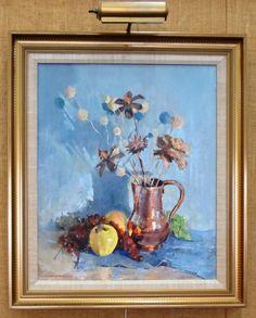 Nan Greacen oil on canvas still life.
