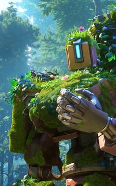 Overwatch - Bastion overgrown