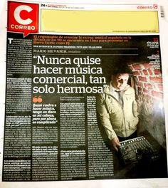 MARIO SILVANIA en el CORREO-Entrevista.....http://diariocorreo.pe/perfiles/mario-silvania-nunca-quise-hacer-musica-comercial-tan-solo-hermosa-623748/