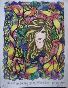 Creative Haven Fanciful Faces Adult Coloring Pages, Coloring Books, Color Combinations, Color Schemes, Dover Publications, Flower Fashion, Beautiful Birds, Zentangle, Color Inspiration