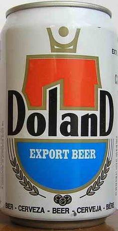 Cerveja Doland Export Beer, estilo Premium American Lager, produzida por Nienood, Holanda. 5% ABV de álcool.