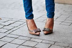 Tamara, 23 year old fashion blogger  journalist for & 'Glamour' from Poland, wearing DeeZee heels.