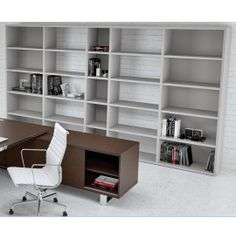 TITANO bookcase with melamine shelves