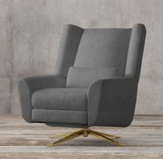 Luke Swivel Recliner add a Windy O'Connor lumbar pillow Family Room Swivel Recliner Chairs, Armchair, Best Chair For Posture, Posture Support, Library Chair, Cool Chairs, Lumbar Pillow, Living Room Designs, Home Furnishings