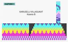 Karuselli-sukat - Kaupunkilanka Knit Patterns, Periodic Table, Tips, Knitting Patterns, Periotic Table, Knitting Stitch Patterns, Shawl Patterns