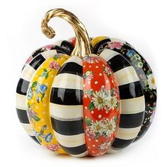 Shop Flower Market Patchwork Pumpkin from MacKenzie-Childs at Horchow, where you'll find new lower shipping on hundreds of home furnishings and gifts. Mackenzie Childs Inspired, Pumpkin Display, Millenial Pink, Mckenzie And Childs, Velvet Pumpkins, Pumpkin Decorating, Fall Decorating, Gypsy Decorating, Painted Pumpkins