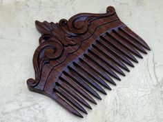 Wooden comb  hair Hair accessories made of wood  by Creationsergea