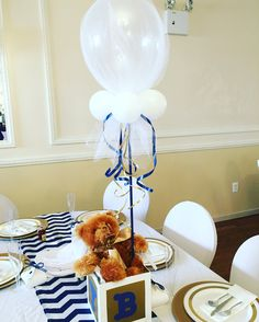 Baby Blocks Bears And Bowties Baby Shower Party Ideas Boy Baby