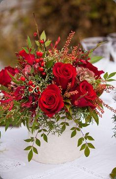 red rose flower arrangement