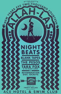 Burger Records New Year's Eve Party 2014 poster