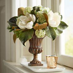 Magnolia Arrangement in Fluted Urn