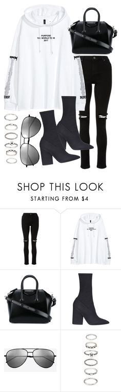 """""""Untitled #22400"""" by florencia95 ❤ liked on Polyvore featuring Givenchy, Yeezy by Kanye West, Yves Saint Laurent and Forever 21"""