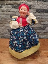"Vintage Russian Tea Cozy Large 19"" Cloth Doll USSR Soviet Union Rare"