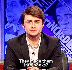"""""""Lord Voldemort is the main villain in the Harry Potter books.""""   Oh, Daniel, you're silly."""