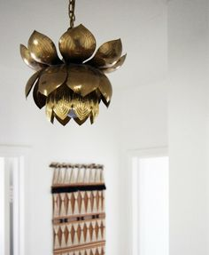 Lampe laiton Fleur de Lotus