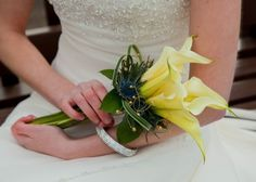 Vickys Flowers specialist wedding and event florist, first established Now freelance based in West Lothian Flower Service, Yellow Wedding Flowers, Wedding Bouquets, Creativity, Table Decorations, Style, Swag, Wedding Brooch Bouquets, Stylus