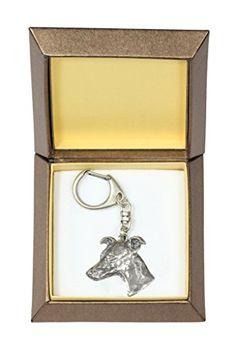 NEW, Whippet, dog keyring, key holder, in casket, limited edition, ArtDog >>> For more information, visit image link. This is an affiliate link.