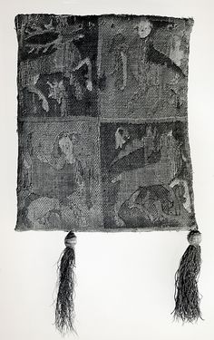 Purse with Two Figures under a Tree (back), 14th century France, Metropolitan Museum of Art, Accession Number: 27.48.3