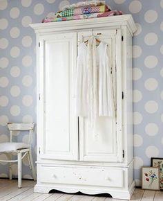 Self adhesive White polka dot pattern wallpaper Removable vinyl wallpaper 089   Home & Garden, Home Improvement, Building & Hardware   eBay!