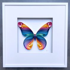"""Quilled Paper Art: """"Spread Your Wings & Fly, Butterfly"""" by SenaRuna"""