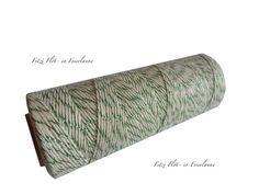 Kordeln - Bäcker-Garn Bakers Twine natur grün - ein Designerstück von Fitzi-Floet bei DaWanda